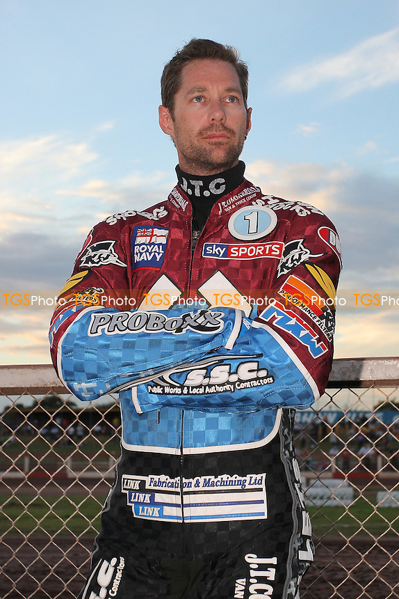 Davey Watt of Lakeside - Lakeside Hammers vs Eastbourne Eagles - Sky Sports Elite League Speedway at Arena Essex Raceway, Purfleet - 17/08/12 - MANDATORY CREDIT: Gavin Ellis/TGSPHOTO - Self billing applies where appropriate - 0845 094 6026 - contact@tgsphoto.co.uk - NO UNPAID USE.