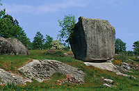 Europe/France/Midi-Pyrénées/81/Tarn/Massif du Sidorbe: Le rocher tremblant de sept faux