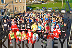 The runners line up at the start of the Jingle 10 km run in aid of the Irish Council for the Blind in Killorglin on Saturday    Copyright Kerry's Eye 2008