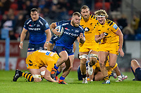 8th November 2019; AJ Bell Stadium, Salford, Lancashire, England; English Premiership Rugby, Sale Sharks versus Coventry Wasps; Akker van der Merwe of Sale Sharks is chased by Tommy Taylor of Wasps - Editorial Use