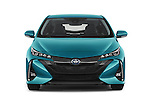 Car photography straight front view of a 2017 Toyota PRIUS PRIME Four 5 Door Hatchback
