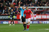 Adam Matthews of Charlton Athletic shown a yellow card during Charlton Athletic vs Middlesbrough, Sky Bet EFL Championship Football at The Valley on 7th March 2020