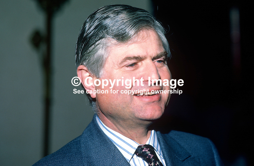 Lord Mansfield, 8th Earl, Conservative Party politician, junior minister, N Ireland Office, 19840020LM2..Copyright Image from Victor Patterson, 54 Dorchester Park, Belfast, UK, BT9 6RJ..Tel: +44 28 9066 1296.Mob: +44 7802 353836.Voicemail +44 20 8816 7153.Skype: victorpattersonbelfast.Email: victorpatterson@me.com.Email: victorpatterson@ireland.com (back-up)..IMPORTANT: If you wish to use this image or any other of my images please go to www.victorpatterson.com and click on the Terms & Conditions. Then contact me by email or phone with the reference number(s) of the image(s) concerned.