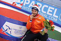 "SHORT TRACK: MOSCOW: Speed Skating Centre ""Krylatskoe"", 15-03-2015, ISU World Short Track Speed Skating Championships 2015, World Champion Sjinkie KNEGT (NED), ©photo Martin de Jong"