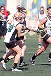 Santa Barbara, CA 02/18/12 - Christa Nelson  (Cal Poly SLO #10) and Taylor Haverty (Colorado #3) in action during the 2012 Santa Barbara Shootout.  Colorado defeated Cal Poly SLO 8-7.
