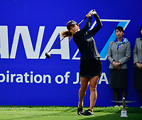 Hee Young Park of Korea plays her shot from the first tee during the Final round of the ANA Inspiration at the Mission Hills Country Club in Palm Desert, California, USA. 4/1/18.<br /> <br /> Picture: Golffile | Bruce Sherwood<br /> <br /> <br /> All photo usage must carry mandatory copyright credit (&copy; Golffile | Bruce Sherwood)during the second round of the ANA Inspiration at the Mission Hills Country Club in Palm Desert, California, USA. 4/1/18.<br /> <br /> Picture: Golffile | Bruce Sherwood<br /> <br /> <br /> All photo usage must carry mandatory copyright credit (&copy; Golffile | Bruce Sherwood)