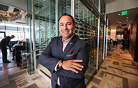Oct. 22. 2018. San Diego CA. USA. | General Manager of the new Del Frisco's Stake house Michael Manoocheri in and around the soon to be opened downt waterfront restaurunt. |Photos Jamie Scott Lytle. copyright.