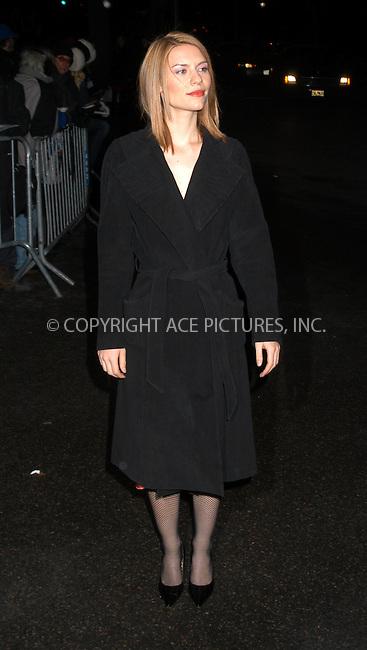 Actress Claire Danes arrives at the 2003 National Review Board Awards Gala at the 'Tavern on the Green', New York City. January 13 2004. Please byline: AJ SOKALNER/NY Photo Press.   ..*PAY-PER-USE*      ....NY Photo Press:  ..phone (646) 267-6913;   ..e-mail: info@nyphotopress.com