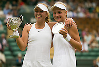 ANASTASIA POTAPOVA (RUS), JUNIOR SINGLES GIRL WINNER, DAYANA YASTREMSKA (UKR), JUNIOR SINGLES GIRL RUNNER UP<br /> <br /> <br /> TENNIS - THE CHAMPIONSHIPS - WIMBLEDON - ATP - WTA - ITF - GRAND SLAM - CHAMPIONSHIPS - LONDON - GREAT  BRITAIN - 2016  <br /> <br /> <br /> <br /> &copy; TENNIS PHOTO NETWORK