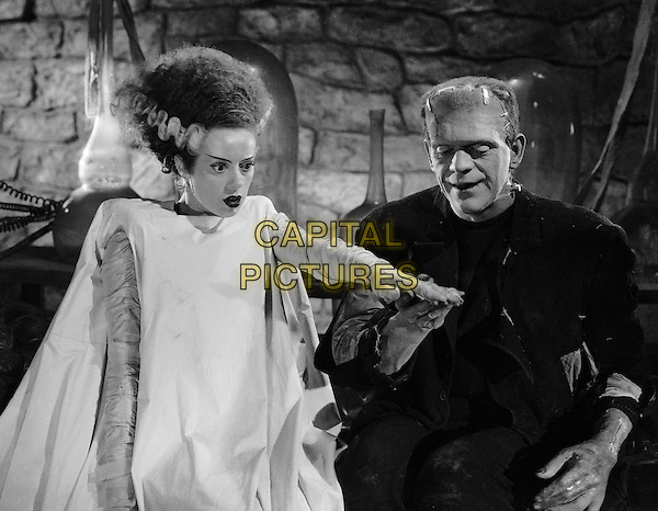 Elsa Lanchester & Boris Karloff .in The Bride of Frankenstein.*Filmstill - Editorial Use Only*.CAP/PLF.Supplied by Capital Pictures.