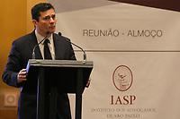 SÃO PAULO, SP,  07.02.2019 - MORO-SP -  Sergio Moro, Ministro da Justiça e Segurança Pública, participa de almoço palestra promovido pelo Instituto dos Advogados de São Paulo, no Hotel Grand Hyatt São Paulo, nesta quinta-feira, 7. ( Foto: Charles Sholl/Brazil Photo Press)