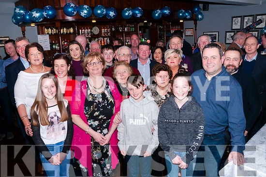 50th Birthday & Stephen Carrig, Ballyduff, right front, celebrating his 50th birthday with family & friends at Lowe's Bar, Ballyduff on Saturday night last.