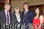 Mick, Mary O'Dwyer, Killarney Mayor Patrick O'Donoghue and his wife Eileen at the Killarney Mayor's ball in the Gleneagle Hotel, Killarney on Monday night