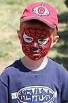 AJ Cooper, aka Spiderman, at the 2008 Cantaloupe  Festival.  Photo by Tom Smedes.