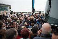 Team Sky/Bradley Wiggins is massively popular in the UK<br /> <br /> 2013 Tour of Britain<br /> stage 7: Epsom to Guilford (155km)