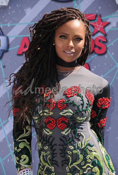 26 June 2016 - Los Angeles. Eva Marcille. Arrivals for the 2016 BET Awards held at the Microsoft Theater. Photo Credit: Birdie Thompson/AdMedia
