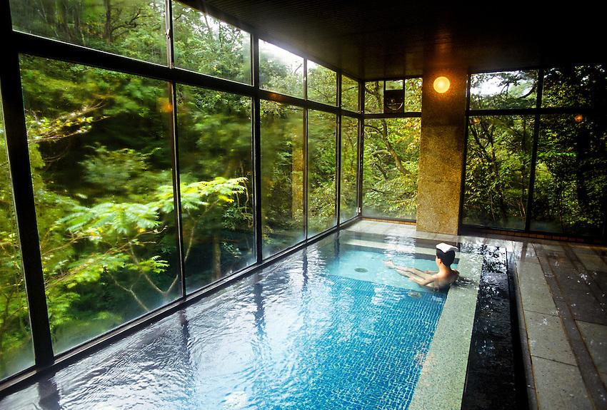 Onsen (hot spring bath), Kayotei Ryokan (traditional Japanese style ...