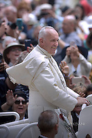 Pope Francis during mass on the occasion of the Jubilee of Deacons in St. Peter squareat the Vatican on May 29, 2016