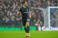Cesar Azpilicueta of Chelsea (28)  during the Premier League match between Brighton and Hove Albion and Chelsea at the American Express Community Stadium, Brighton and Hove, England on 20 January 2018. Photo by Edward Thomas / PRiME Media Images.