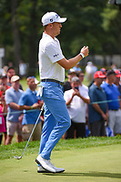 Justin Thomas (USA) barley misses his birdie putt on 3 during Rd4 of the 2019 BMW Championship, Medinah Golf Club, Chicago, Illinois, USA. 8/18/2019.<br /> Picture Ken Murray / Golffile.ie<br /> <br /> All photo usage must carry mandatory copyright credit (© Golffile | Ken Murray)