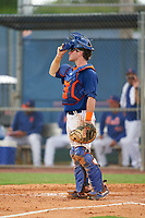 GCL Mets catcher Matt O'Neill (72) during a Gulf Coast League game against the GCL Marlins on August 11, 2019 at St. Lucie Sports Complex in St. Lucie, Florida.  GCL Marlins defeated the GCL Mets 3-2 in the second game of a doubleheader.  (Mike Janes/Four Seam Images)