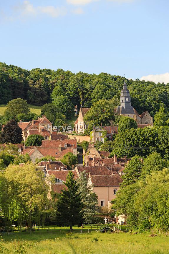 France, Orne (61), Moutiers-au-Perche, le village