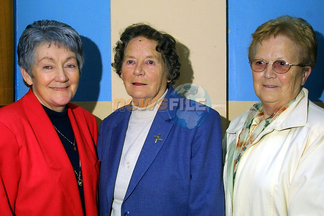 Monica Coleman, Mary McKenny and Marie Carroll pictured at Fr Eke's farewell party in Ardee..Pic: Newsfile