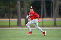 Philadelphia Phillies left fielder Hunter Markwardt (26) during an Instructional League game against the Detroit Tigers on September 19, 2019 at Tigertown in Lakeland, Florida.  (Mike Janes/Four Seam Images)