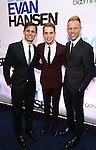 Benj Pasek, Ben Platt and Justin Paul attends the Broadway Opening Night After Party for 'Dear Evan Hansen'  at The Pierre Hotel on December 3, 2016 in New York City.
