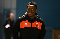 Blackpool's Marc Bola arrives for todays match<br /> <br /> Photographer Rachel Holborn/CameraSport<br /> <br /> The EFL Sky Bet League One - Gillingham v Blackpool - Tuesday 6th November 2018 - Priestfield Stadium - Gillingham<br /> <br /> World Copyright &copy; 2018 CameraSport. All rights reserved. 43 Linden Ave. Countesthorpe. Leicester. England. LE8 5PG - Tel: +44 (0) 116 277 4147 - admin@camerasport.com - www.camerasport.com