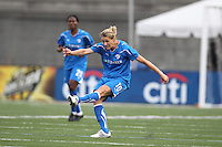 Boston Breakers Kelly Smith takes a shot in 2-1 loss to FC Gold Pride
