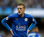 Jamie Vardy of Leicester City during the English Premier League match at the Etihad Stadium, Manchester. Picture date: May 13th 2017. Pic credit should read: Simon Bellis/Sportimage