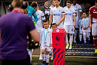 Sunday April 02 2017 <br /> Pictured: Mascots <br /> Re: Premier League match between Swansea City and Middlesbrough at The Liberty Stadium, Swansea, Wales, UK. SUnday 02 April 2017
