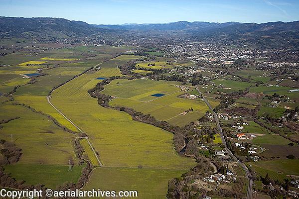 aerial photograph vineyard Napa County, California
