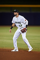 Peoria Javelinas second baseman C.J. Chatham (24), of the Boston Red Sox organization, during an Arizona Fall League game against the Surprise Saguaros on September 22, 2019 at Peoria Sports Complex in Peoria, Arizona. Surprise defeated Peoria 2-1. (Zachary Lucy/Four Seam Images)