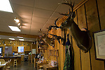 Interior shots of a hunting lodge in Mississippi