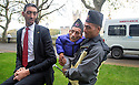 Pic shows: Meeting of World's tallest and shortest men.<br /> <br /> The shortest man ever, Chandra Bahadur Dangi (54.6cm or 21.5in) will meet the world's tallest man, Sultan Kosen for the first time (251cm or 8ft 3in) to celebrate the 10th annual Guinness World Records Day. St Thomas's Hospital,<br /> <br /> <br /> <br /> <br /> Pic by Gavin Rodgers/Pixel 8000 Ltd