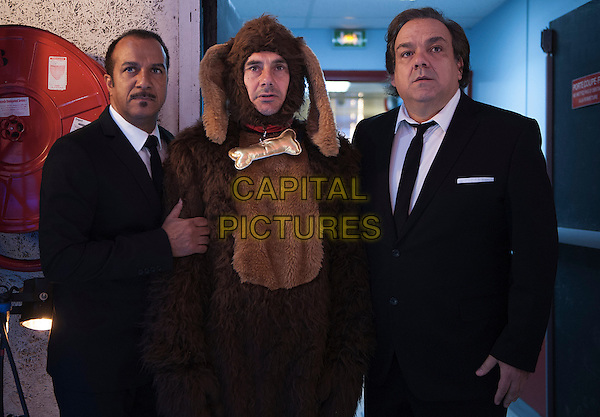 Pascal Legitimus, Bernard Campan, Didier Bourdon<br /> in Les trois freres, le retour (2014) <br /> *Filmstill - Editorial Use Only*<br /> CAP/NFS<br /> Image supplied by Capital Pictures