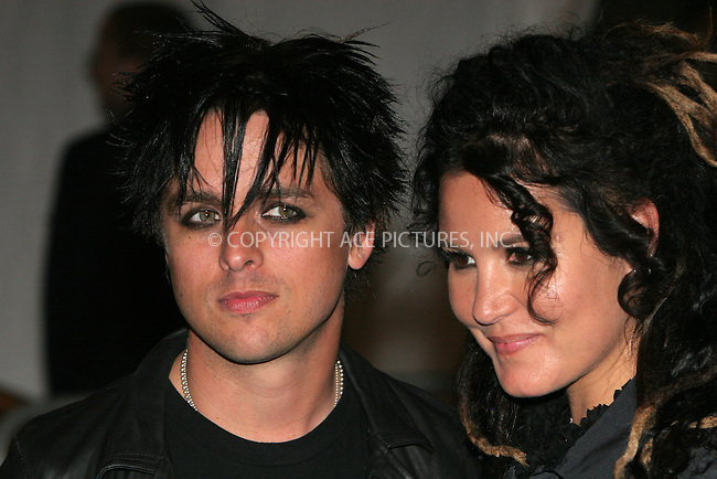 """WWW.ACEPIXS.COM . . . . .  ....NEW YORK, MAY 1, 2006....Billie Joe Armstrong and Adrienne Nesser at the """"AngloMania"""" Costume Institute Gala at The Metropolitan Museum of Art - Exits....Please byline: NANCY RIVERA- ACEPIXS.COM.... *** ***..Ace Pictures, Inc:  ..Craig Ashby (212) 243-8787..e-mail: picturedesk@acepixs.com..web: http://www.acepixs.com"""