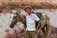 Cowboy with his horse, Orlando Graela