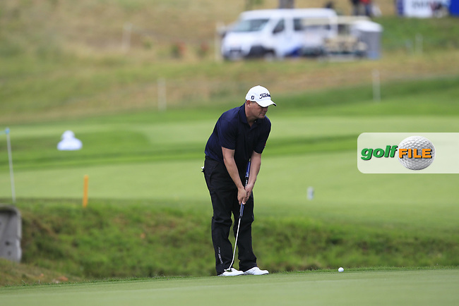 David Drysdale (SCO) on the 13th green during Round 3 of the HNA Open De France  at The Golf National on Saturday 1st July 2017.<br /> Photo: Golffile / Thos Caffrey.<br /> <br /> All photo usage must carry mandatory copyright credit      (&copy; Golffile | Thos Caffrey)