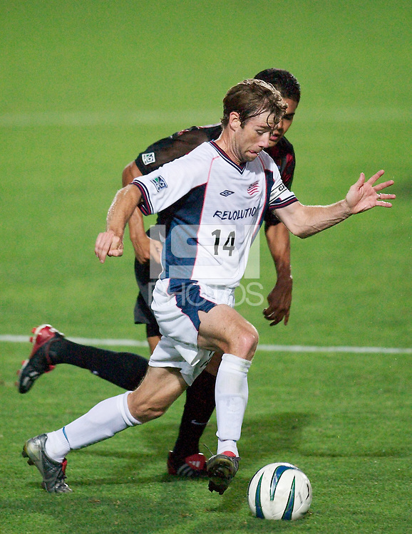 Steve Ralston of the Revolution is marked by Amado Guevara of the MetroStars. The New England Revolution were defeated by the NY/NJ MetroStars 2-1 during quarterfinals action of the Lamar Hunt U.S. Open Cup on 8/27/03 at Yurcak Field, Rutgers University, Piscataway, NJ..