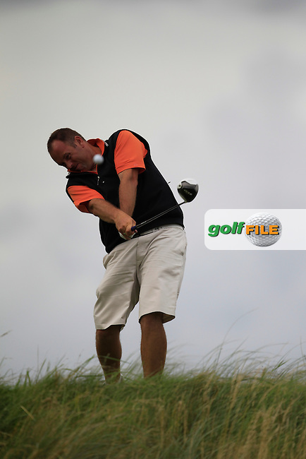 Ben Best (Rathmore) on the 18th tee during the South of Ireland Amateur Open Championship Quarter Finals at Lahinch Golf Club  30th July 2013 <br /> Picture:  Thos Caffrey / www.golffile.ie