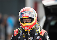 Sep 18, 2016; Concord, NC, USA; NHRA top fuel driver Doug Kalitta during the Carolina Nationals at zMax Dragway. Mandatory Credit: Mark J. Rebilas-USA TODAY Sports