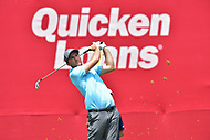 Bethesda, MD - July 2, 2017: Hudson Swafford hits off the tee at the seventeenth hole during final round of professional play at the Quicken Loans National Tournament at TPC Potomac at Avenel Farm in Bethesda, MD.  (Photo by Phillip Peters/Media Images International)