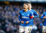 02.02.2019 Rangers v St Mirren: James Tavernier celebrates his second successful conversion from the spot