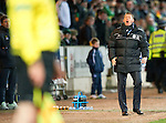 St Johnstone v Celtic...18.12.11   SPL .Steve Lomas screams at the linesman.Picture by Graeme Hart..Copyright Perthshire Picture Agency.Tel: 01738 623350  Mobile: 07990 594431