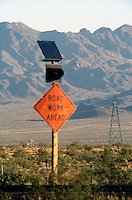 SOLAR PANEL<br /> On A Road Sign