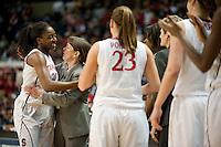 SPOKANE, WA - MARCH 28, 2011: Nnemkadi  Ogwumike at the Stanford Women's Basketball vs Gonzaga, NCAA West Regional Finals at the Spokane Arena on March 28, 2011.