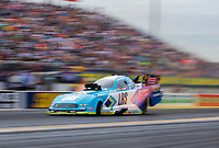 Mar 16, 2019; Gainesville, FL, USA; NHRA funny car driver Tim Wilkerson during qualifying for the Gatornationals at Gainesville Raceway. Mandatory Credit: Mark J. Rebilas-USA TODAY Sports